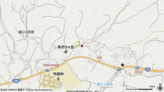 大分県竹田市会々3296周辺の地図