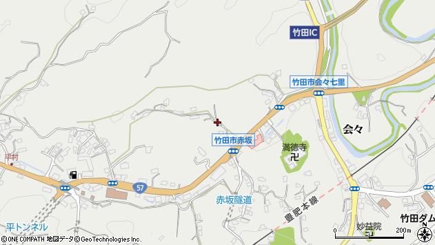 大分県竹田市会々2909周辺の地図