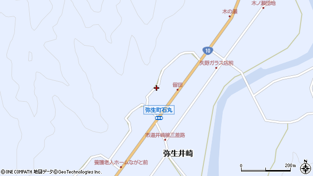 大分県佐伯市弥生大字井崎2066周辺の地図