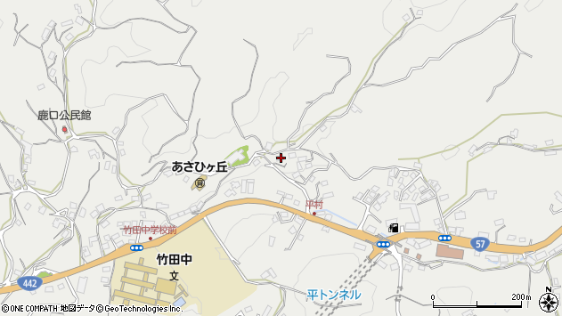 大分県竹田市会々3264周辺の地図