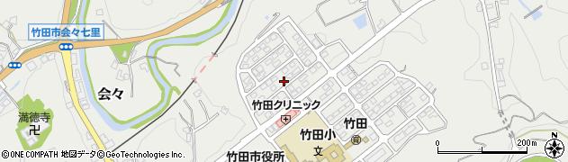 大分県竹田市会々周辺の地図