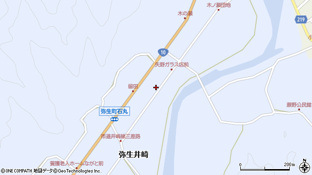 大分県佐伯市弥生大字井崎1781周辺の地図