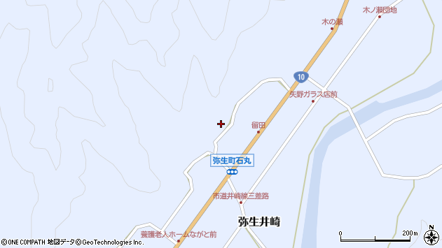 大分県佐伯市弥生大字井崎2067周辺の地図