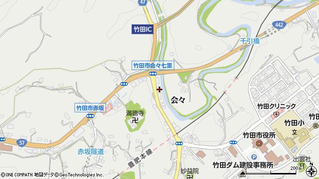 大分県竹田市会々1464周辺の地図