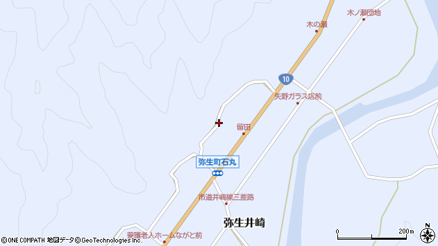 大分県佐伯市弥生大字井崎1570周辺の地図