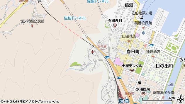 大分県佐伯市田の浦町3周辺の地図