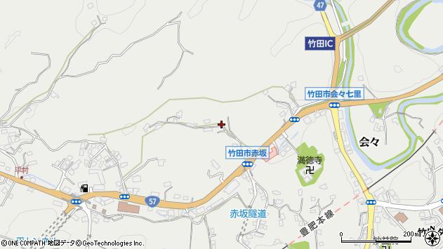 大分県竹田市会々2910周辺の地図