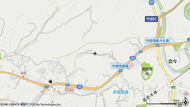 大分県竹田市会々2934周辺の地図