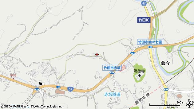 大分県竹田市会々2918周辺の地図