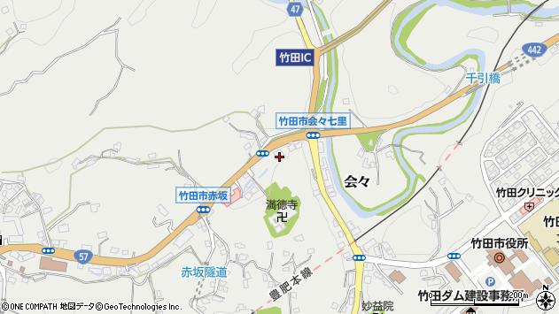 大分県竹田市会々1247周辺の地図