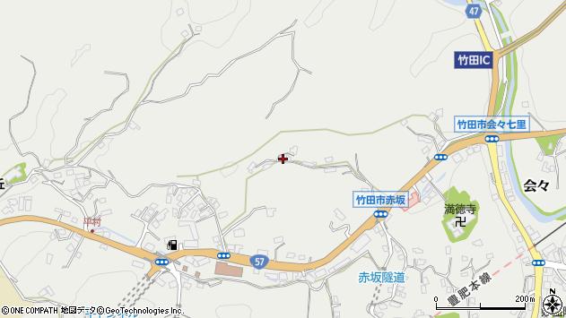 大分県竹田市会々2923周辺の地図