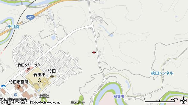 大分県竹田市挟田725周辺の地図