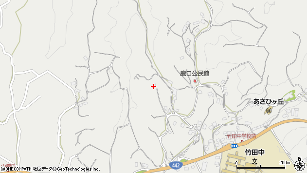 大分県竹田市会々3807周辺の地図