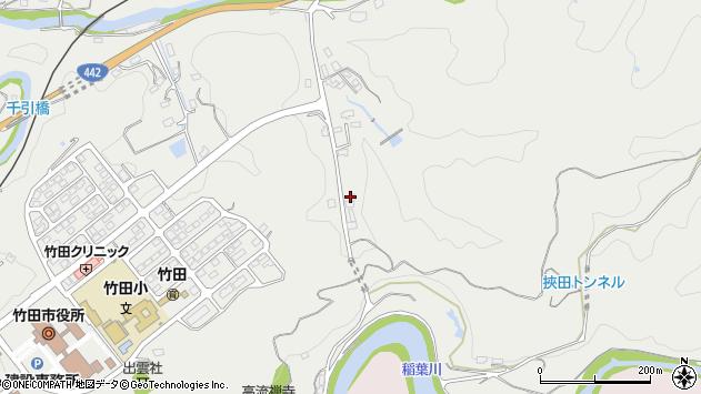 大分県竹田市挟田693周辺の地図