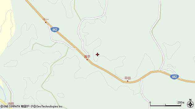 大分県竹田市平田上平田周辺の地図