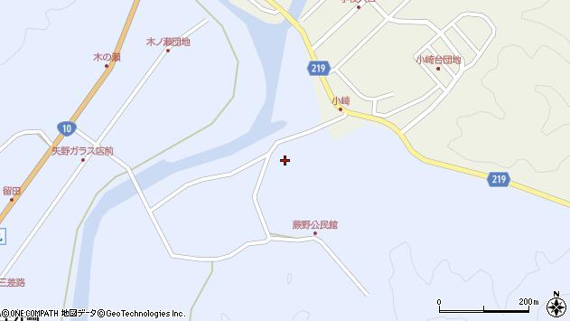 大分県佐伯市弥生大字井崎262周辺の地図