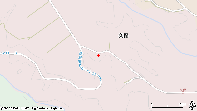 大分県竹田市久保周辺の地図