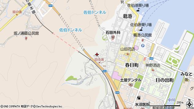 大分県佐伯市田の浦町4周辺の地図