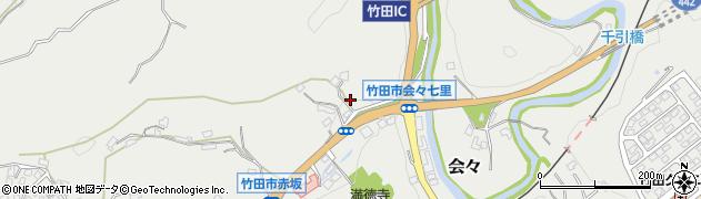 大分県竹田市会々1175周辺の地図