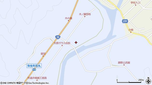 大分県佐伯市弥生大字井崎1657周辺の地図