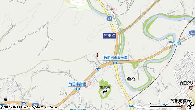 大分県竹田市会々1185周辺の地図