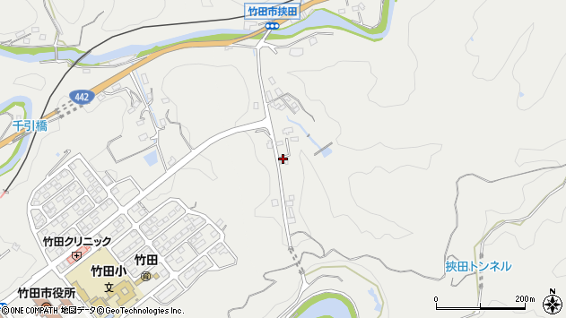 大分県竹田市挟田685周辺の地図