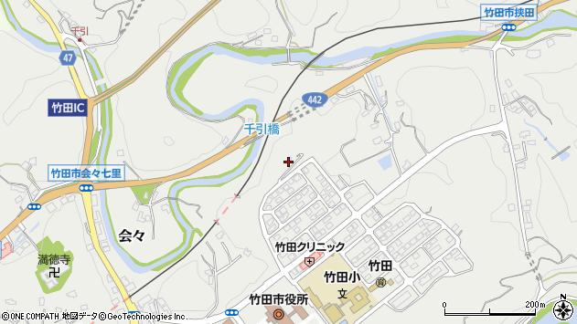大分県竹田市会々七里周辺の地図