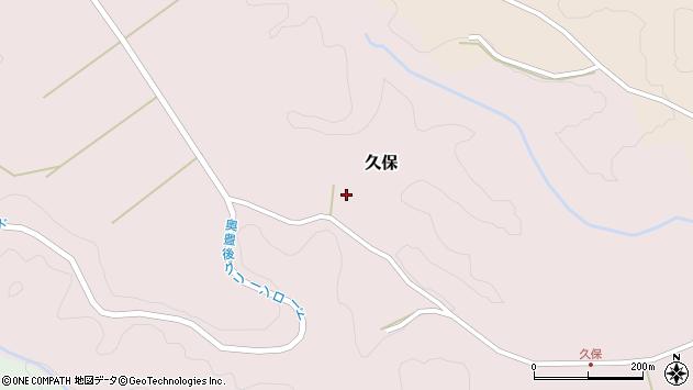 大分県竹田市久保1019周辺の地図