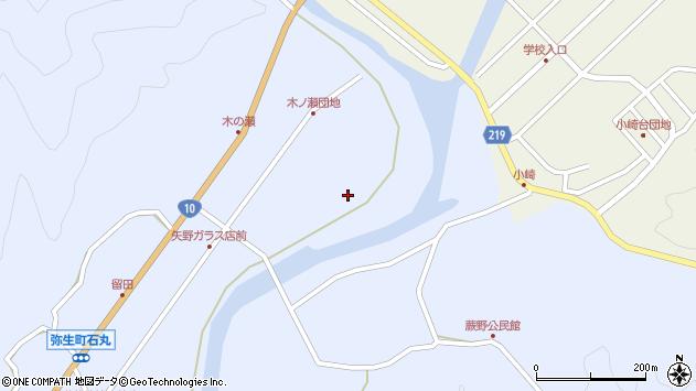 大分県佐伯市弥生大字井崎1592周辺の地図