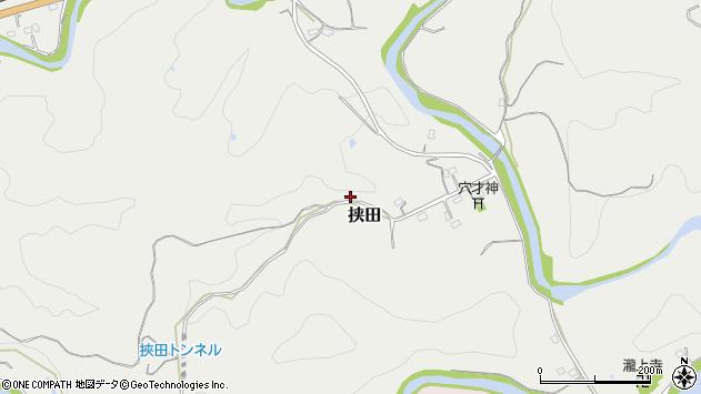 大分県竹田市挟田348周辺の地図