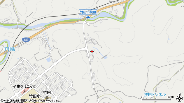 大分県竹田市挟田681周辺の地図