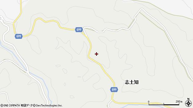 大分県竹田市志土知302周辺の地図