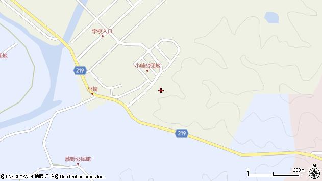 大分県佐伯市弥生大字大坂本小崎台周辺の地図