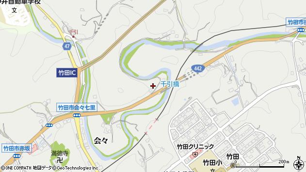 大分県竹田市会々881周辺の地図