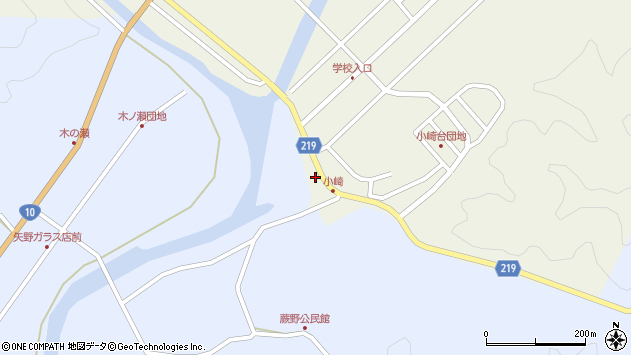 大分県佐伯市弥生大字大坂本311周辺の地図