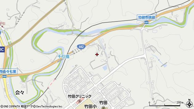 大分県竹田市会々1784周辺の地図