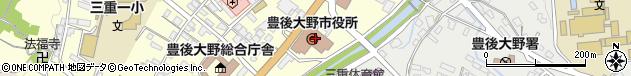 大分県豊後大野市周辺の地図