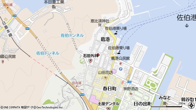 大分県佐伯市葛港周辺の地図