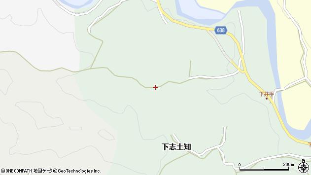 大分県竹田市下志土知463周辺の地図