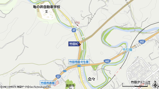 大分県竹田市会々1209周辺の地図