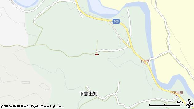 大分県竹田市下志土知柳井周辺の地図