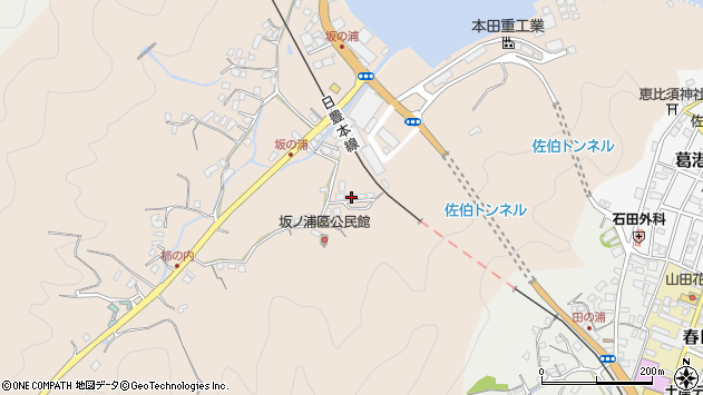 大分県佐伯市鶴望4478周辺の地図