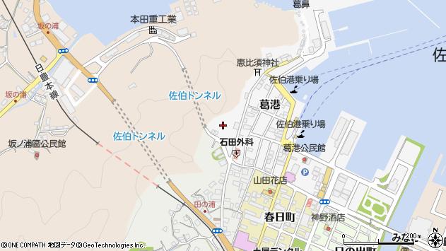 大分県佐伯市葛港9周辺の地図