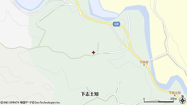 大分県竹田市下志土知84周辺の地図
