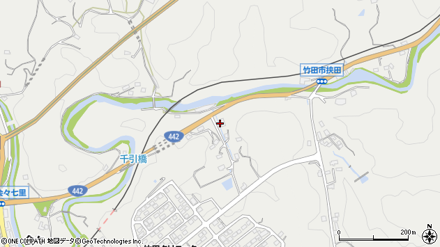 大分県竹田市会々1818周辺の地図