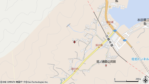 大分県佐伯市鶴望4633周辺の地図