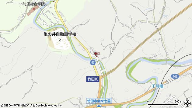 大分県竹田市会々25周辺の地図