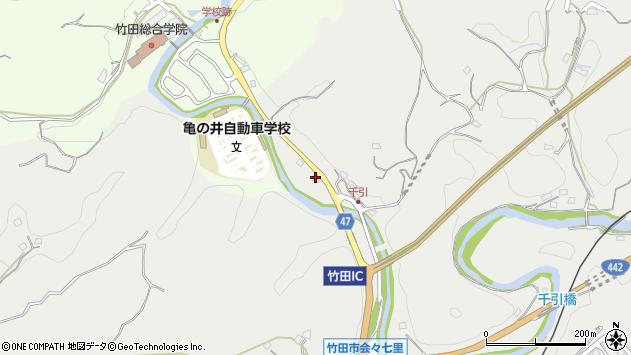 大分県竹田市会々6周辺の地図