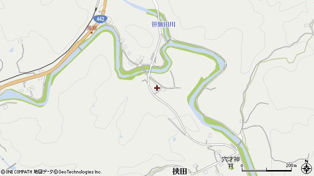大分県竹田市挟田862周辺の地図
