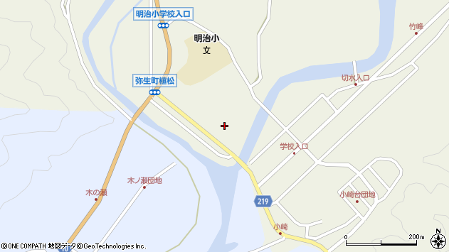 大分県佐伯市弥生大字大坂本974周辺の地図